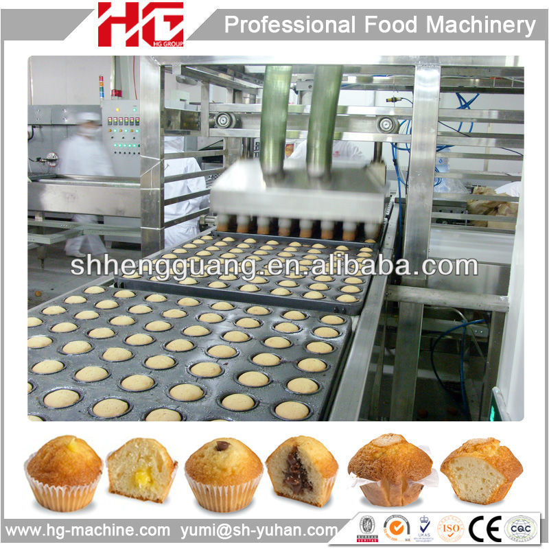 Full automatic cupcake/muffin production line