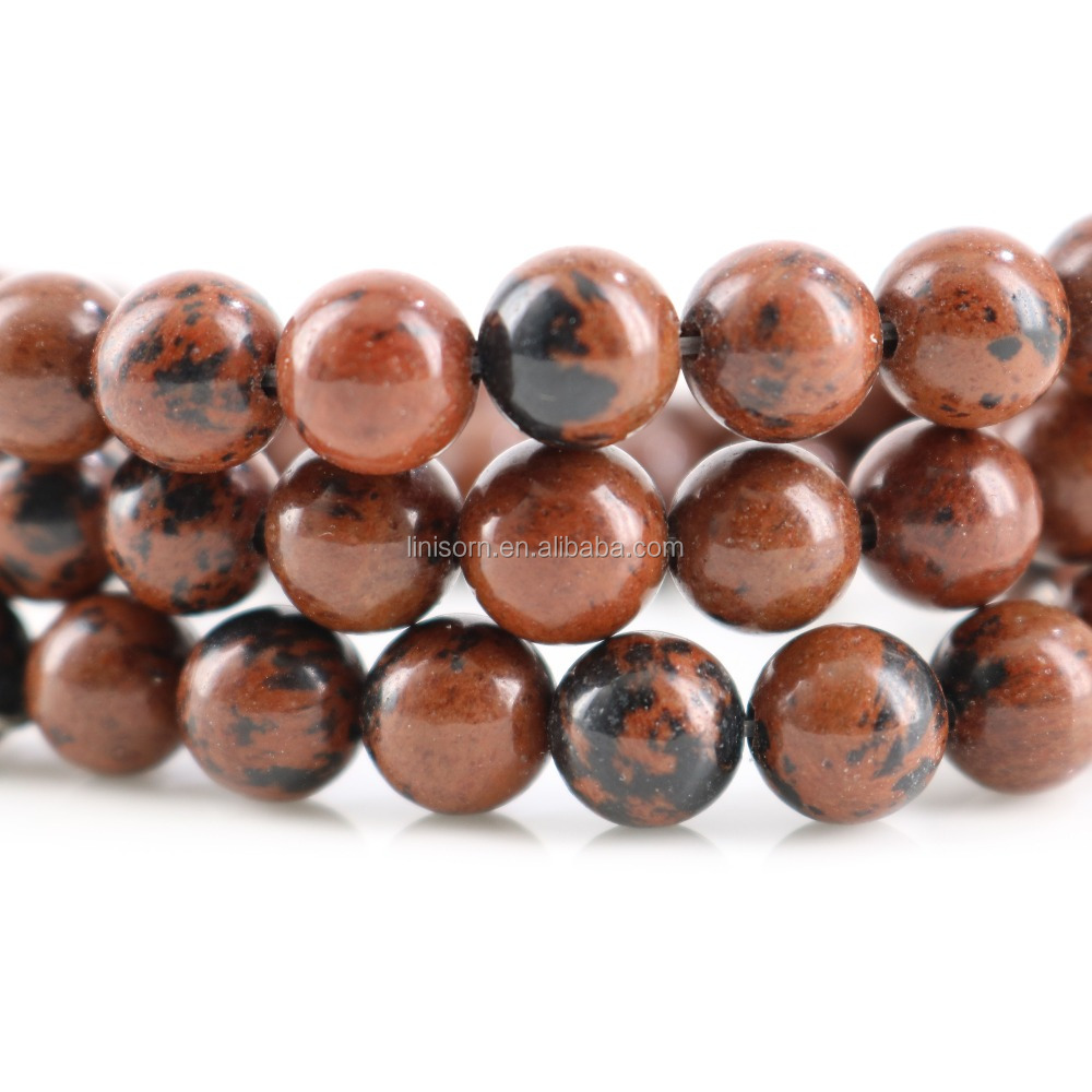 Wholesale Natural Black <strong>Point</strong> Red Jasper Round Stone Beads For Jewelry Making DIY Bracelet Material 6/8/10/12 mm Strand 15''