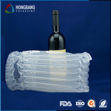 New products transparent plastic air column bag for wine bottle 050