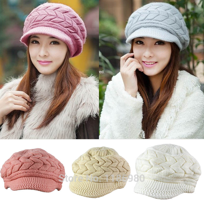 Fashion Women Hat Winter Keep Warm Crochet Lady Knit <strong>Cap</strong>
