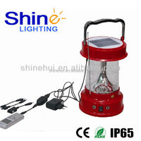 Plastic ABS/Transparent PC energy saving led lantern camping smart solar lamp with fm radio