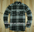 Wholesale Mens fit shirt checked flannel shirts