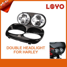 DOT 2016 LED Dual beam two headlights for harley Road Glide Ultra FLTRU