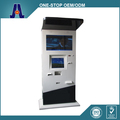 Dual Screen Kiosk with barcode scanner with Coin Hopper Outdoor Dual Screen Kiosk