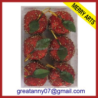 China supplier hot new extra large glitter styrofoam christmas decorative apple balls
