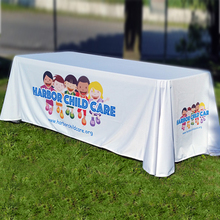 Logo design printed 6 feet Trade show table cloth