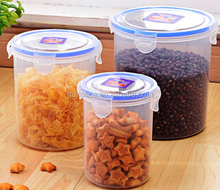 With sealed lid airtight food grade plastic food containers
