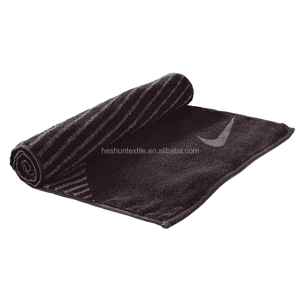 soft and good water absorption sport use jacquard 100%cotton gym towel