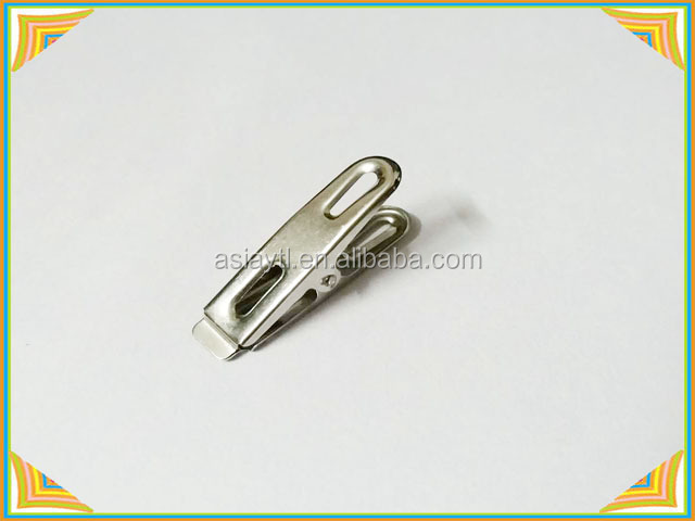 stainless steel wind quilt clip, metal sock clip with flat opening 48mm long