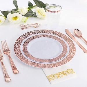 Wholesale western wedding party plastic disposable tableware