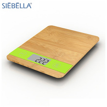 Unique LCD backlight display digital table food bamboo kitchen scale