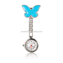Blue Butterfly Table Pocket Watches for Nurse Clip Watch Nurse Watch(WACH-N007-01D)