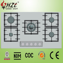 2017 Built-in 5 burner battery gas stove/gas cooker for cooking
