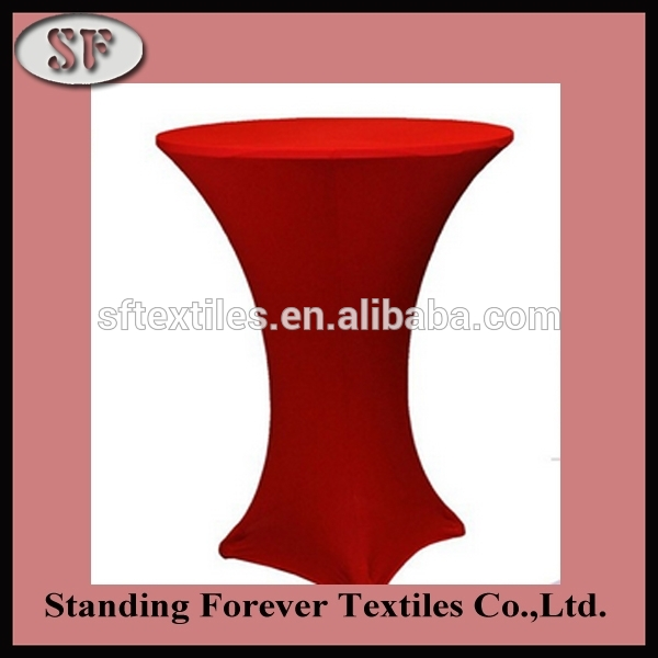 Factory price sexy red elastic spandex lycra bar table covers