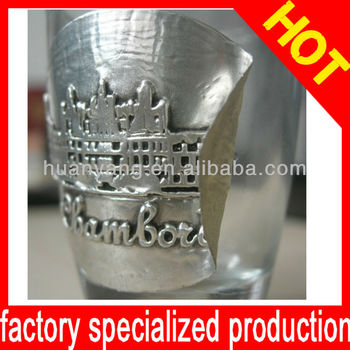 Stannum Wine Label, Embossed metal label,Factory price