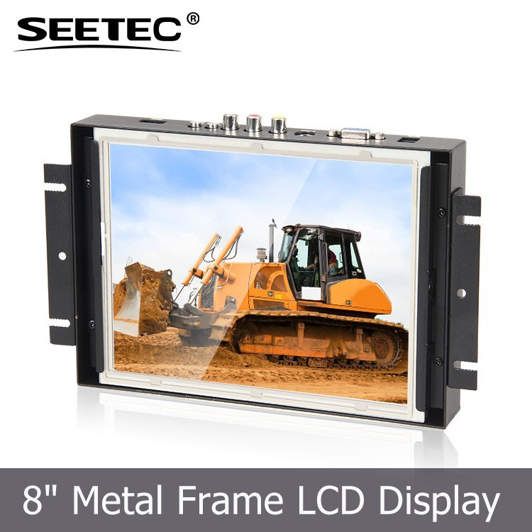 "4Wire Resistive 5 available USB touching RS232 Optional pos system embed 8""1080P HD open frame touch display"