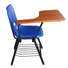 special used wooden plastic school chair with writing board