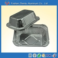 FDA LFGB certification Aluminum foil takeaway food storage container for airline