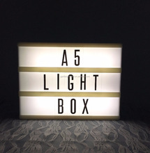 A5 decorative LED letters light box free standing A5 light box