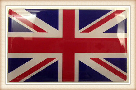 Union Jack Domed Large Decal/Sticker (1 pack)
