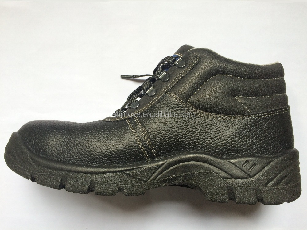JY-155 factory price directly wholesale black leather PU sole imported safety shoes india ansi z41