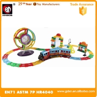 2016 New Magformers Wholesales magnetic block toy with electric train