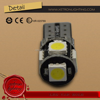 High Quality CanBus T10 LED Bulbs 5SMD 5050 Car Auto W5W 5Leds