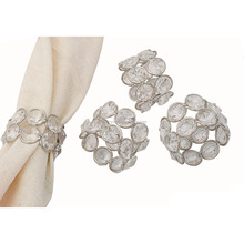 crystal beads chain napkin rings for weddings