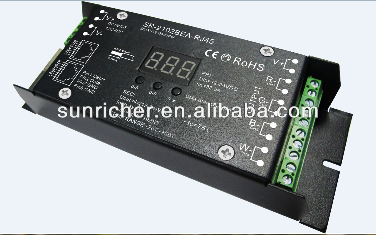 Addressable RJ45 dmx decoder