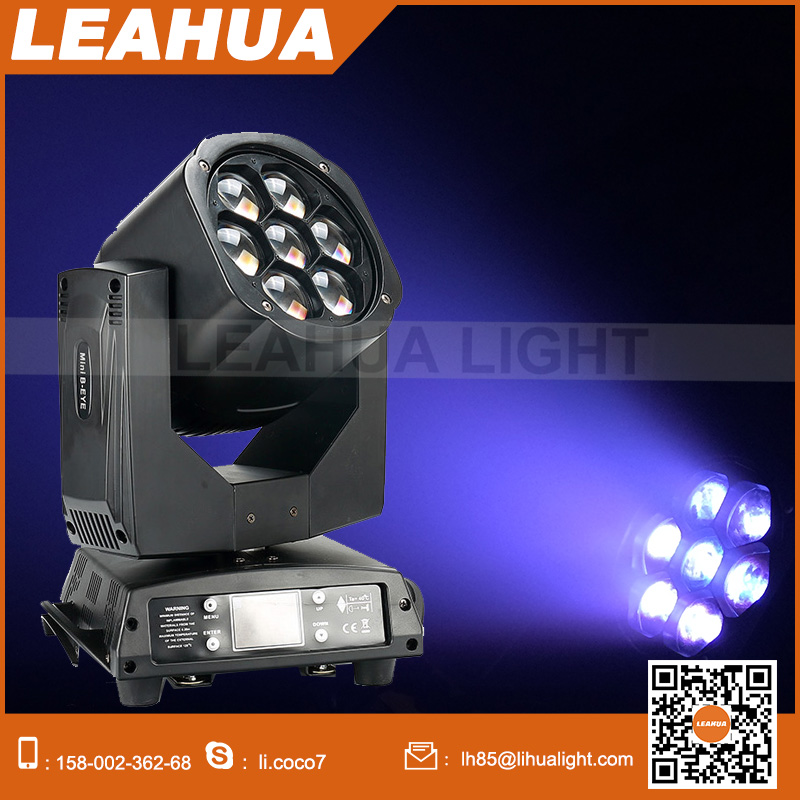 Moving head rgbw led zoom 7pcs mini bee eye