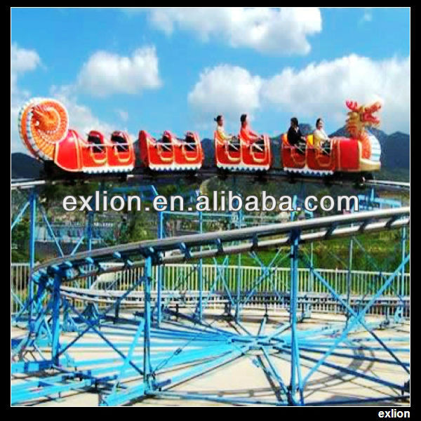 exciting steel frame theme park amusement roller coaster for sale