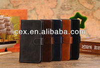 For Samsung Galaxy Note 3 N9000 N9006 Crazy Horse Pattern Wallet Style PU Leather Magnetic Folio Stand Case