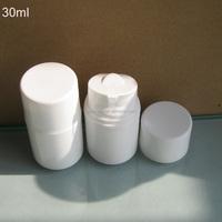 Acrylic cream dispenser 30ml essential oil airless bottle,white cute shape plastic bottle