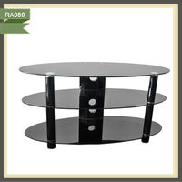 glass wrought iron furniture tv stand