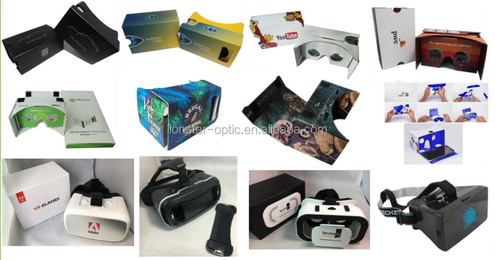 Branded Virtual Reality Google Cardboard 3D Glasses Smartphone VR Kits for Promotion
