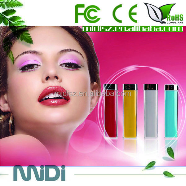 Cheapest lipstick shape power bank 2600mah for all smartphones