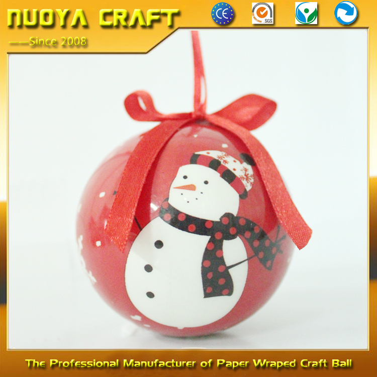 OEM printing craft christmas toy, creative painting round ball toy