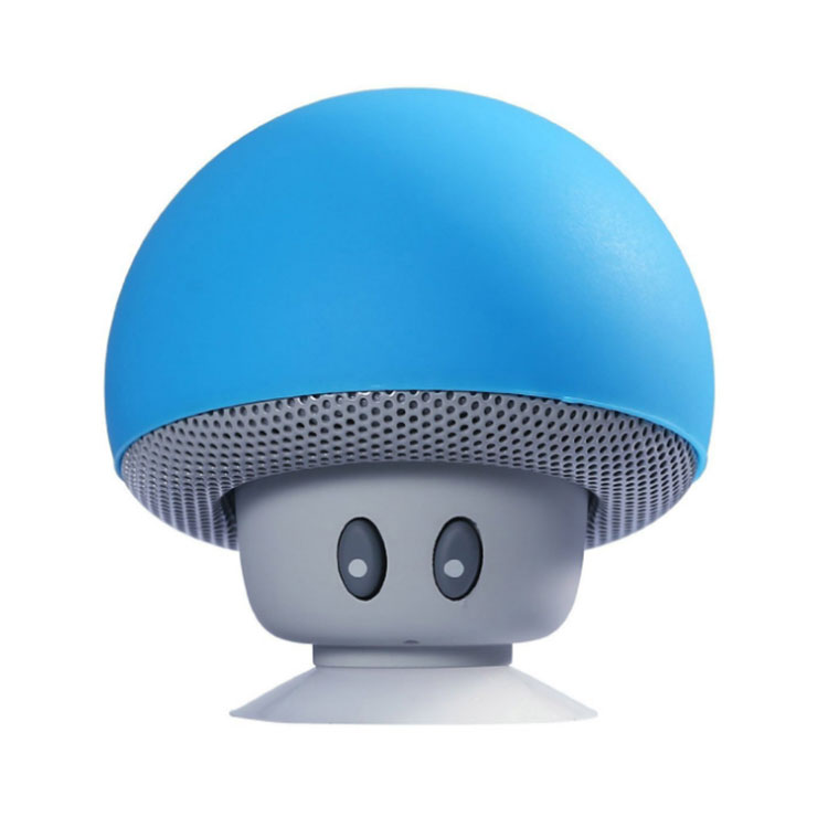 New design mushroom style wireless music bluetooths <strong>speaker</strong> mini blue tooth <strong>speaker</strong> with suction cup