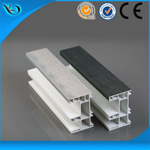 Plastic Co-extruded color profiles Customized Pvc Profile for window and door