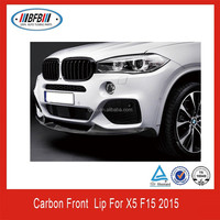 FIT FOR BMW F15 X5 2014+ M Performance Carbon Fiber Front Bumper Lip Spoiler NEW