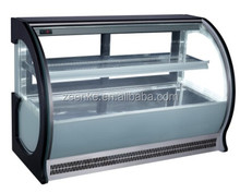Countertop Curve Glass Cake Showcase/Bakery Display Counter