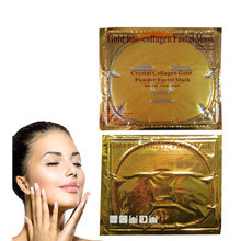 Hot Fashion 24 k gold facial mask gold crystal collagen face mask Best quality