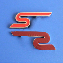 cut out letter s metal car badge emblem for promotion