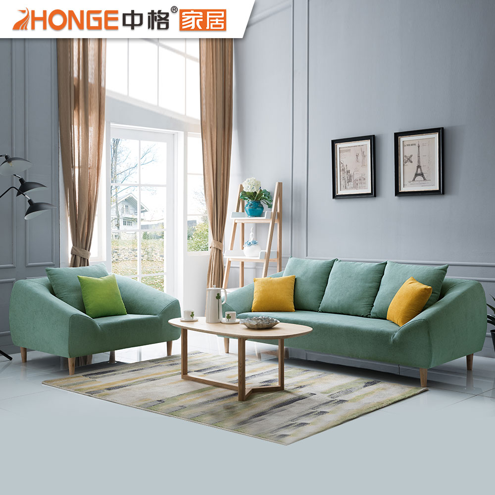 Living room home sapce saving furniture sectional nordic style fabric low price wooden frame sofa set modern