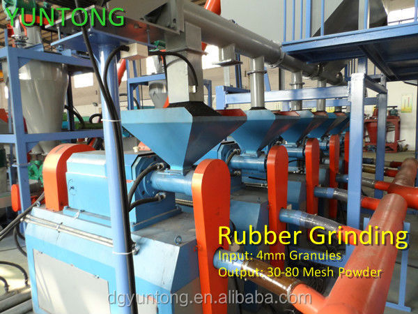 Hot sale scrap tire recycling production line( Rubber grinder-YM320)
