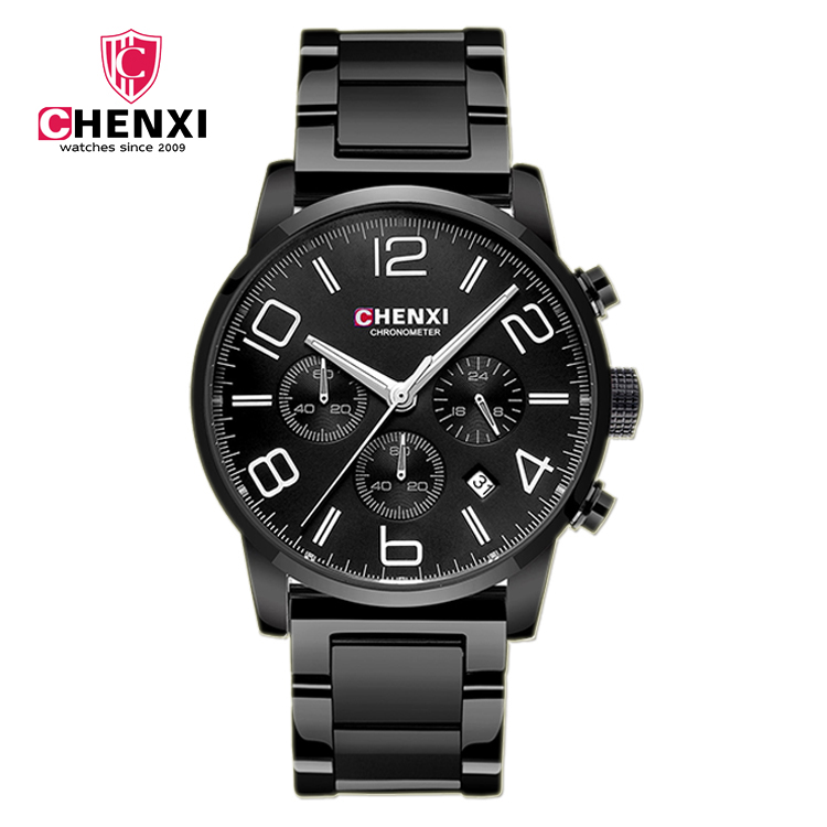 CX 901 G Men's Watches 2017 Luxury Brand Luminous Men Auto <strong>Date</strong> and Chronograph CHENXI Wrist Watches