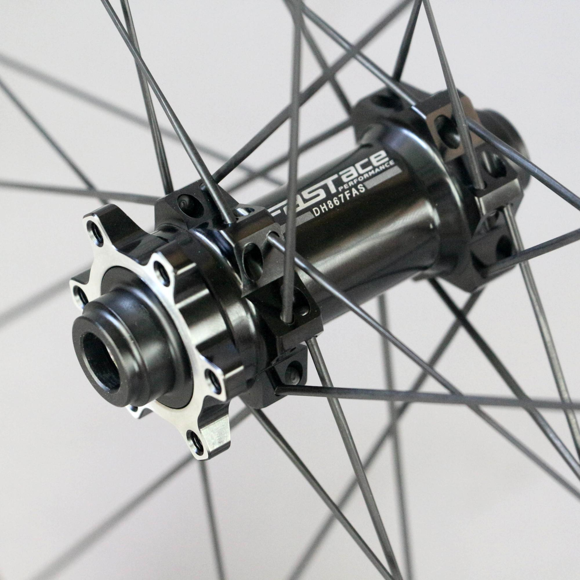 Carbon Disc Brake Wheelset FASTACE Hub ENDURO Bearing, Carbon Rims 48mm Deep 25mm Wide with UCI Tested