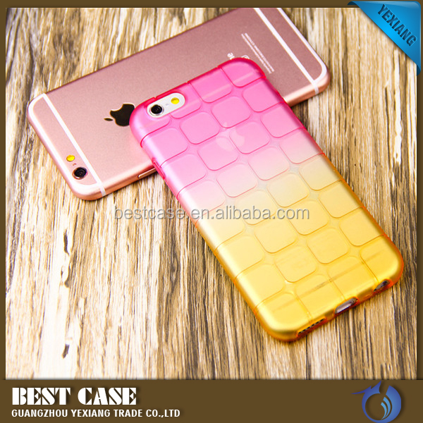 2016 New Magic Cube Color Gradient Design Soft TPU Back Cover Case For Samsung Galaxy S3