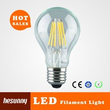 4W 6W 8W E26 E27 B22 dimmable led filament bulb light with TUV CE ROHS UL