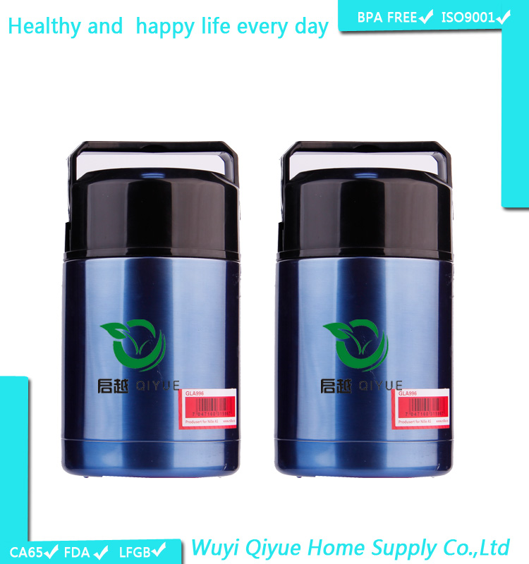 2015 Best Selling Eco Friendly Airtight plastic insulated thermos food warmer container
